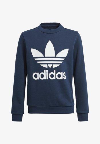 TREFOIL CREW SWEATSHIRT - Sweatshirts - blue
