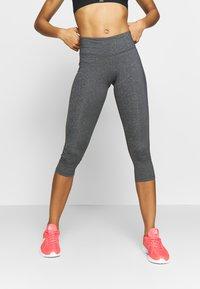 Reebok - LUX 3/4 - 3/4 sports trousers - dark grey - 0