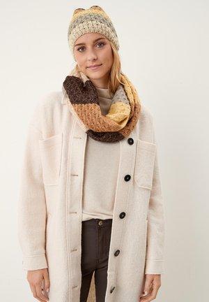 MIT BLOCKSTREIFEN - Bonnet - brown stripes