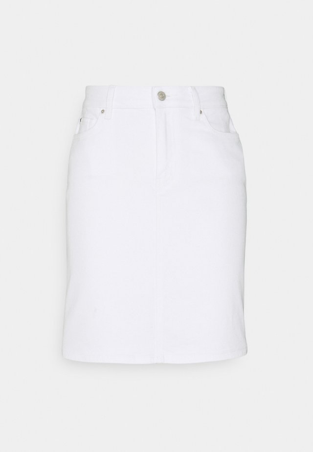 ROME SHORT SKIRT - Denimová sukně - white