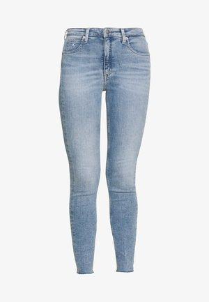 HIGH RISE SUPER SKINNY ANKLE - Jeans Skinny Fit - light blue