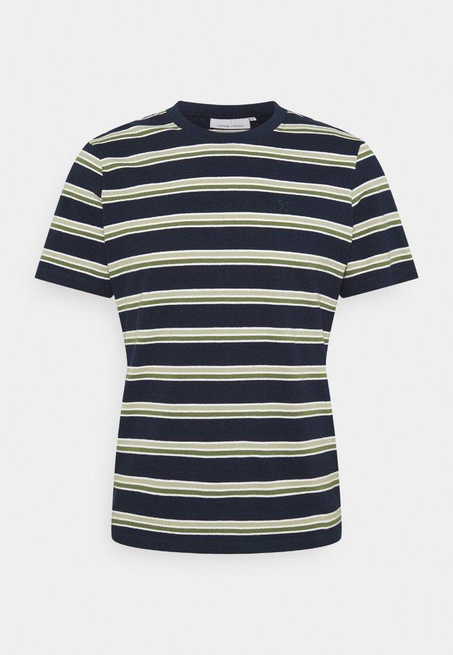 THOR STRIPE TEE - T-shirt imprimé - navy blazer