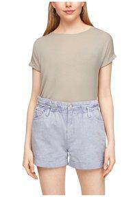 Q/S designed by - Basic T-shirt - beige - 5