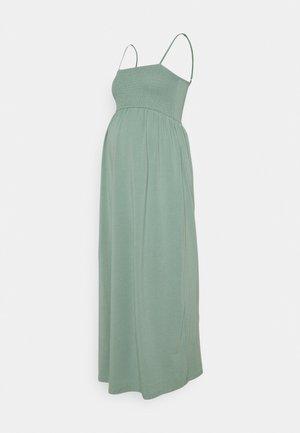 OLMEMMA SMOCK DRESS - Maxi dress - chinois green