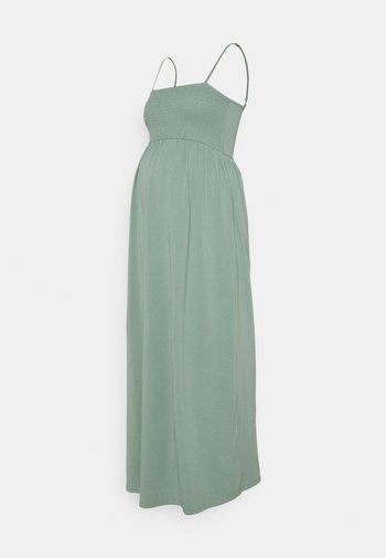 OLMEMMA SMOCK DRESS - Długa sukienka - chinois green