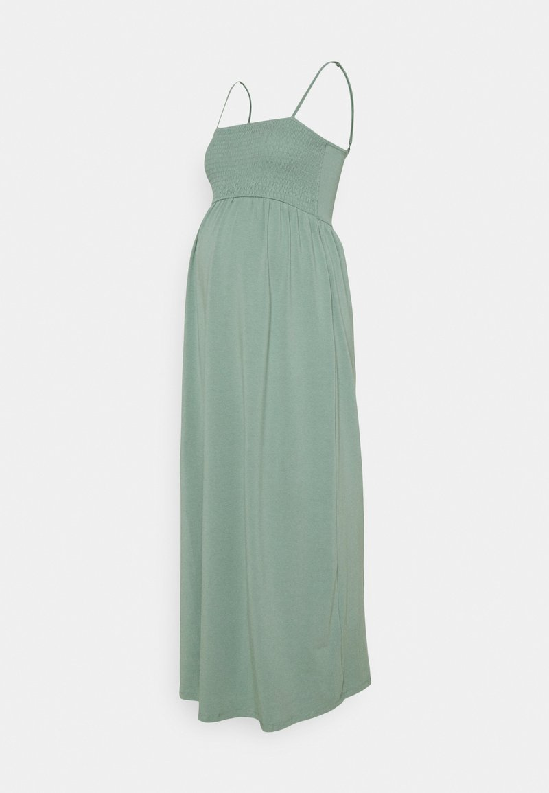 ONLY - OLMEMMA SMOCK DRESS - Maxi dress - chinois green