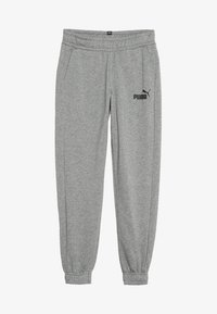 Puma - LOGO PANTS - Trainingsbroek - medium grey heather