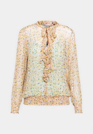 BLOUSE RUFFLE BOUQUET PRINT - Langærmede T-shirts - yellow