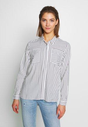 ONLFREYA  - Button-down blouse - cloud dancer/black