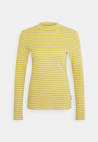 Marc O'Polo - LONG SLEEVE TURTLE NECK - Long sleeved top - multi/pure curry - 0