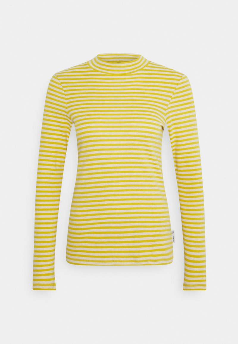 Marc O'Polo - LONG SLEEVE TURTLE NECK - Long sleeved top - multi/pure curry