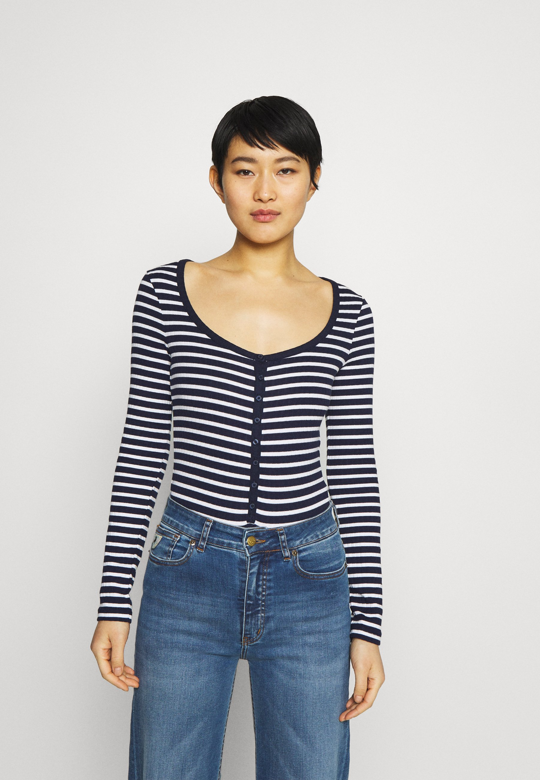Women HENLEY BODYSUIT - Long sleeved top