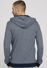 TOM TAILOR - Zip-up sweatshirt - offwhite navy stripe - 2