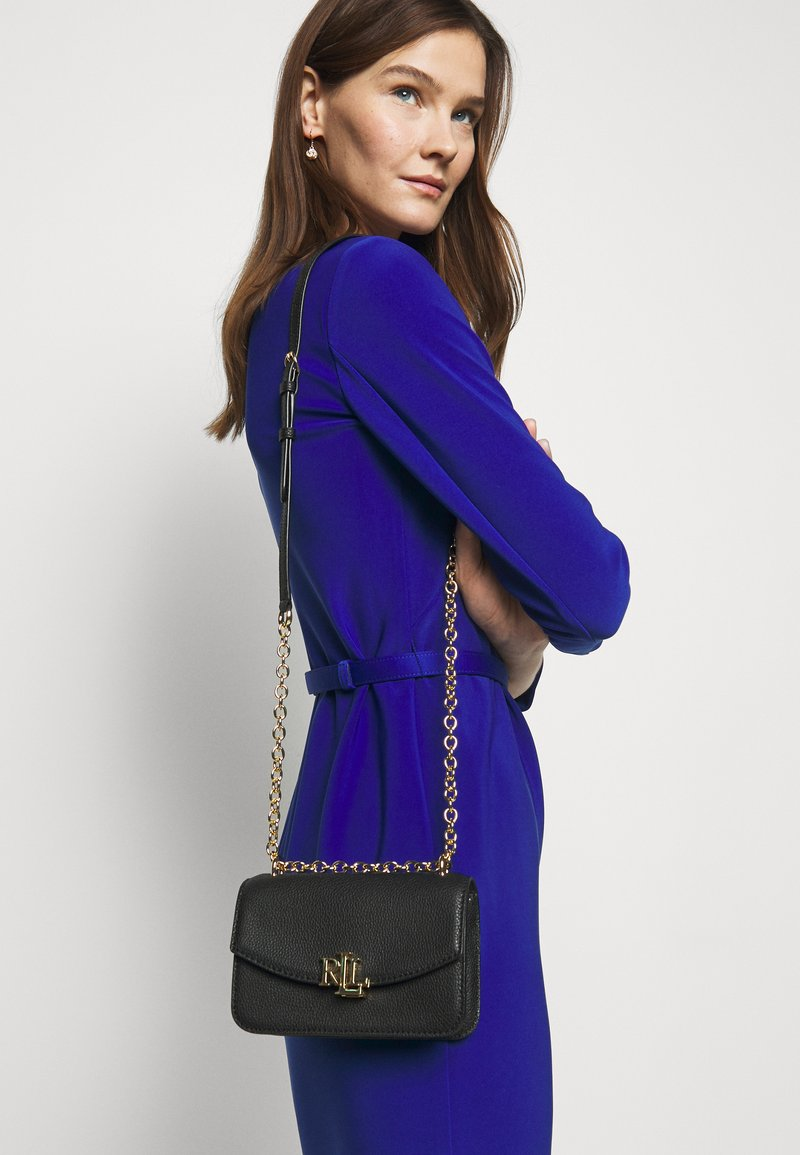 Lauren Ralph Lauren - CLASSIC PEBBLE MADISON  - Torba na ramię - black