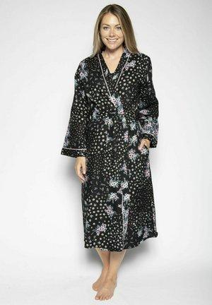 HANNAH - Dressing gown - black ditsy