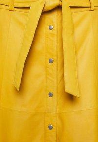 DEPECHE - SKIRT - Leren rok - yellow - 2