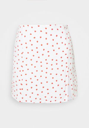 STRAWBERRY SKIRT - Mini skirt - white