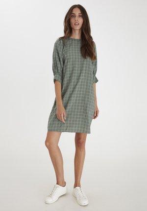 Day dress - deep lichen green