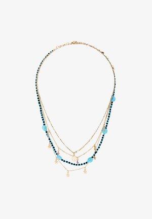 4ER-PACK  - Necklace - light blue/gold-coloured