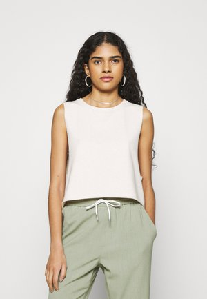 FRENCH TERRY TANK - Top - heather frost