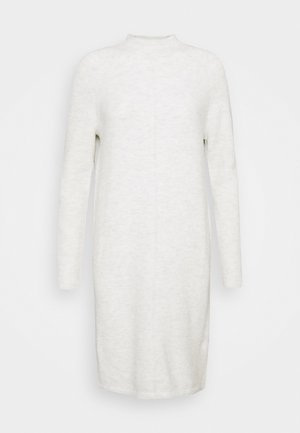 FUNNEL NECK SHIFT - Jumper dress - heather grey
