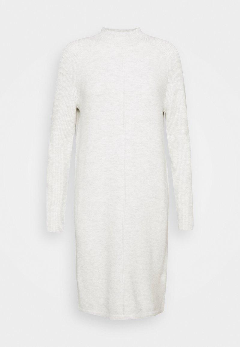 Banana Republic Tall - FUNNEL NECK SHIFT - Pletené šaty - heather grey