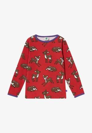 DEER - Longsleeve - dark red