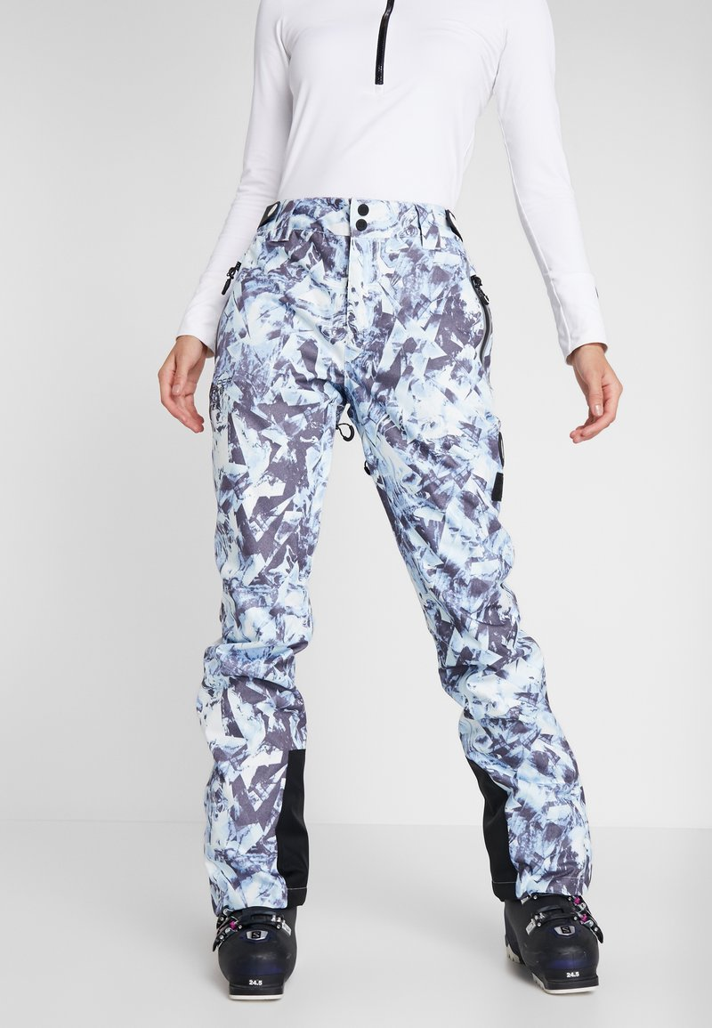 Superdry - LUXE SNOW PANT - Snow pants - frosted blue ice
