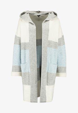 HODDED CARDIGAN - Cardigan - light grey melange