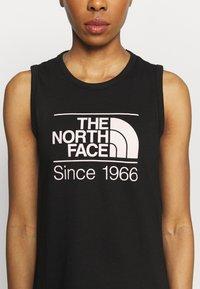 The North Face - W FOUNDATION GRAPHIC TANK - EU - Sports shirt - black - 4