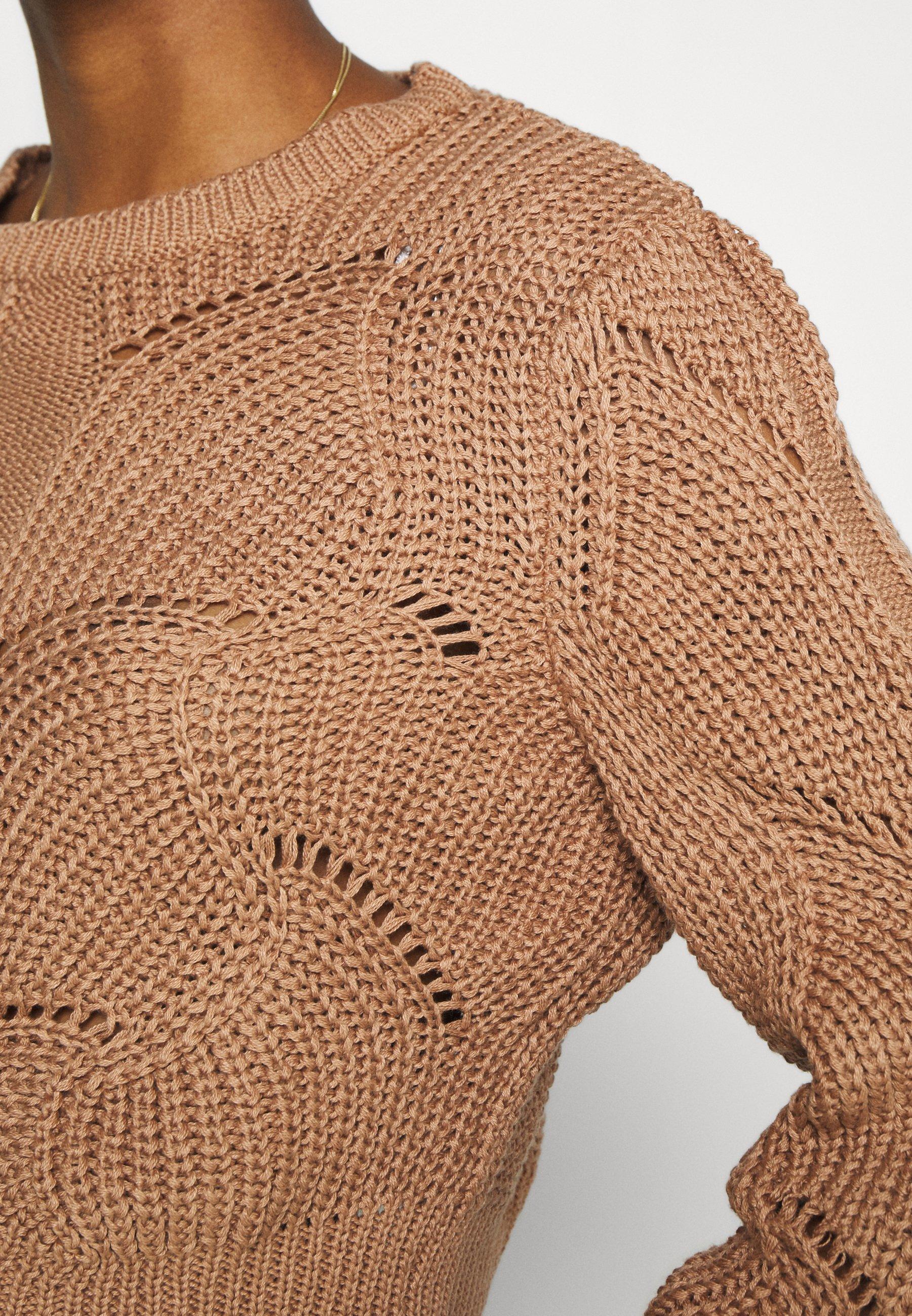 YAS YASHELEN CROPPED  - Jersey de punto - tawny brown 3dlDL