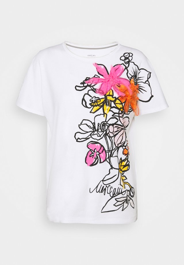 T-shirt con stampa - shocking pink