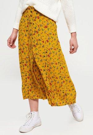 LAYLA PRINTED SKIRT - A-line skirt - yellow