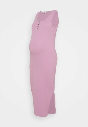 MATERNITY HENLEY MAXI DRESS - Maxi šaty - soft mauve