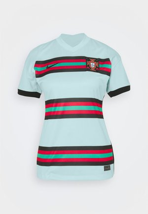 PORTUGAL STAD - Print T-shirt - teal tint/black