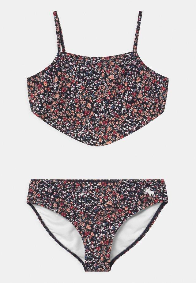 DOUBLE KNOT FRONT SET - Bikini - navy