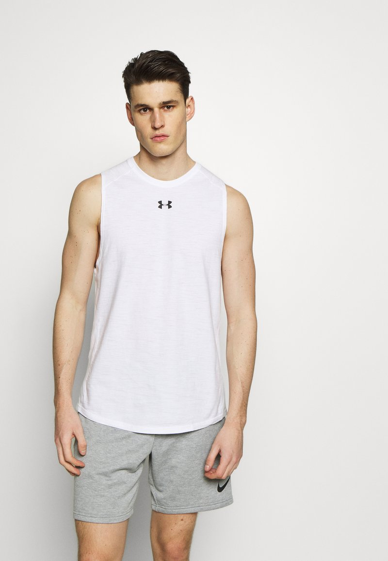 Under Armour - UA CHARGED - Funktionsshirt - white/black