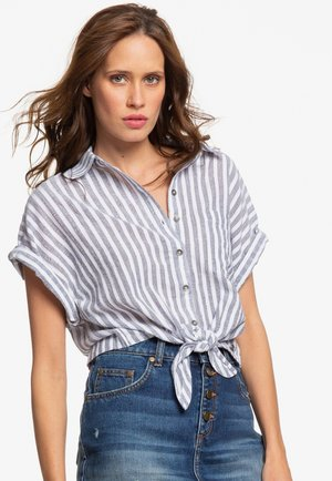 FULL TIME DREAM  - Button-down blouse - mood indigo lagos stripes