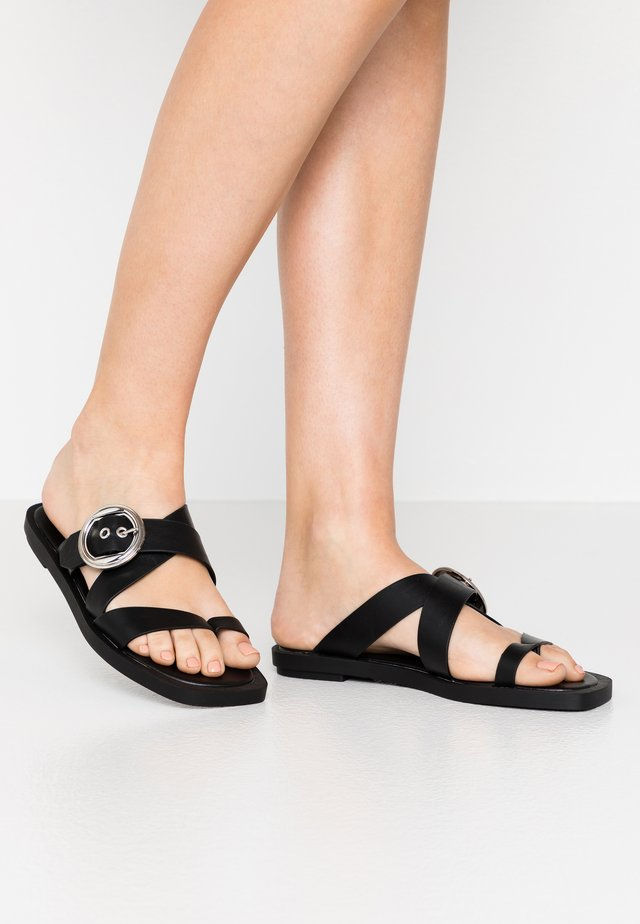 PINE  - T-bar sandals - black