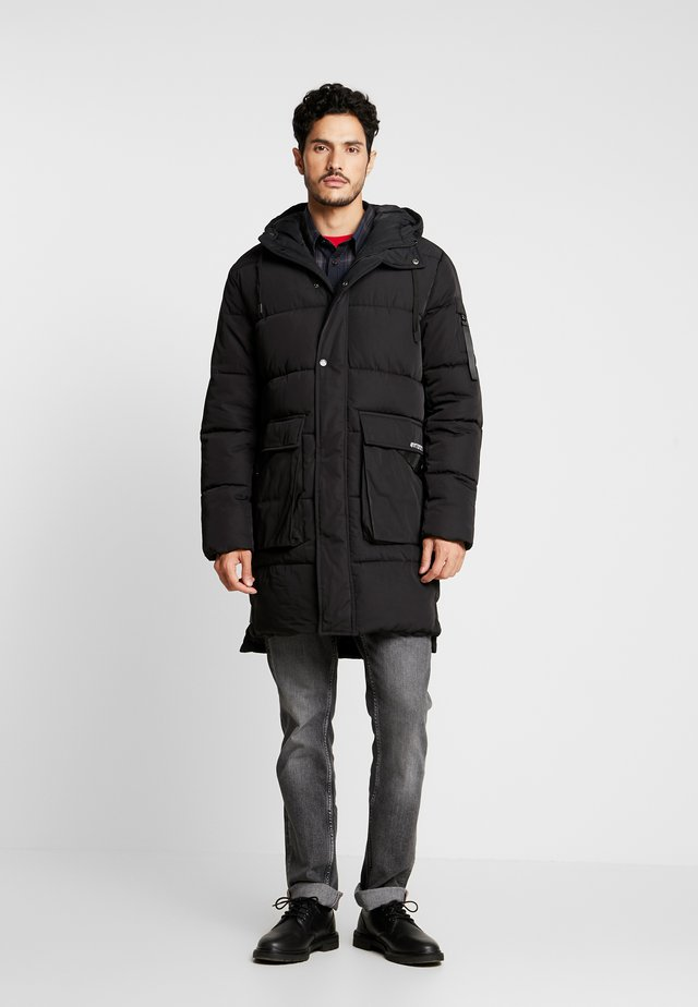 COLD AND WINDY - Parka - black
