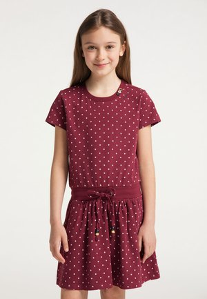 MAGY DOTS - Day dress - wine red
