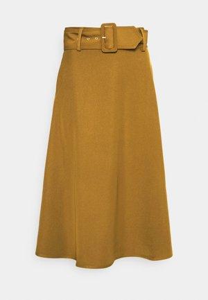 YASPASPA MIDI SKIRT - A-line skirt - butternut