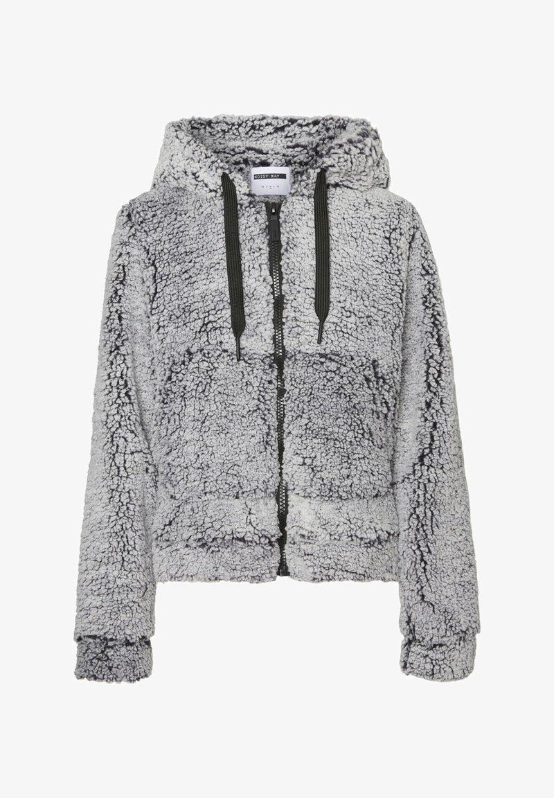 Noisy May - Fleece jacket - light grey melange