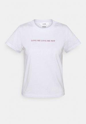 LOVE ME LOVE ME NOT - Print T-shirt - white