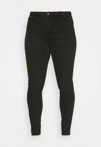 Pieces Curve - PCHIGHFIVE FLEX - Jeans Tapered Fit - dark grey denim - 3