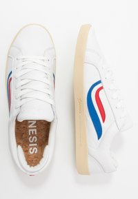 Genesis - G-HELÀ TUMBLED - Matalavartiset tennarit - white/red/blue - 1