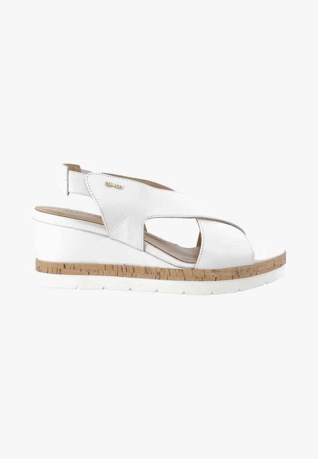 DAO  - Sandały na koturnie - weiß