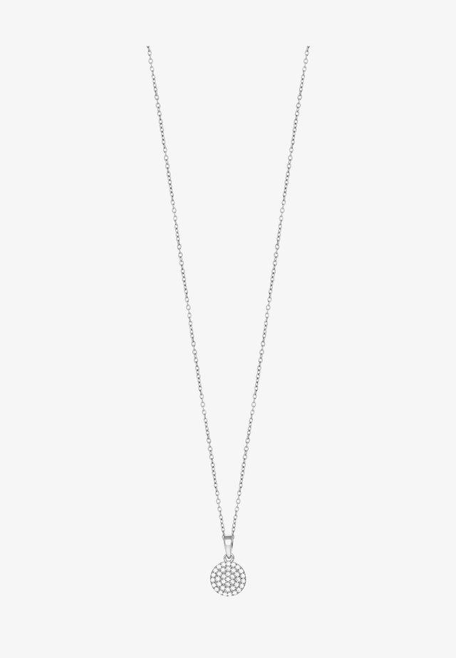 ANNIENOR KETTE MIT KREIS-ANHÄNGER UND ZIRKONIA - Halsband - silver