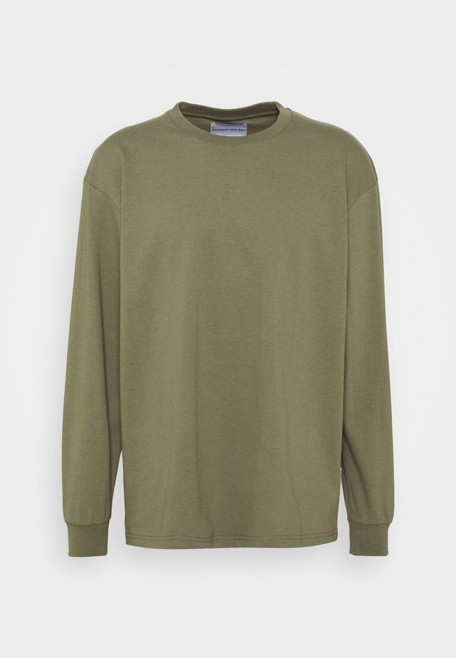 OVERSIZE TEE - Long sleeved top - army