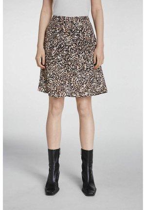MINIROCK - A-line skirt - white black